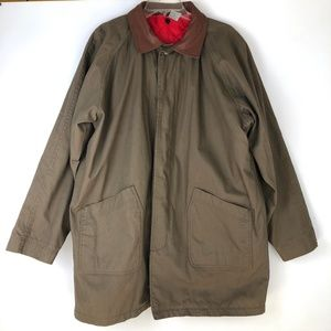 Other - Mens L Brown Barn Coat Jacket Leather Canvas
